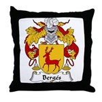 Berges Family Crest Throw Pillow