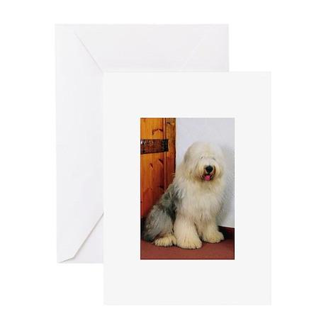 Old English Sheepdog Photo Greeting Card
