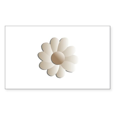 Pretty Daisy Rectangle Sticker