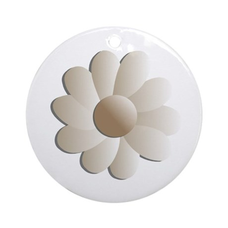 Pretty Daisy Ornament (Round)