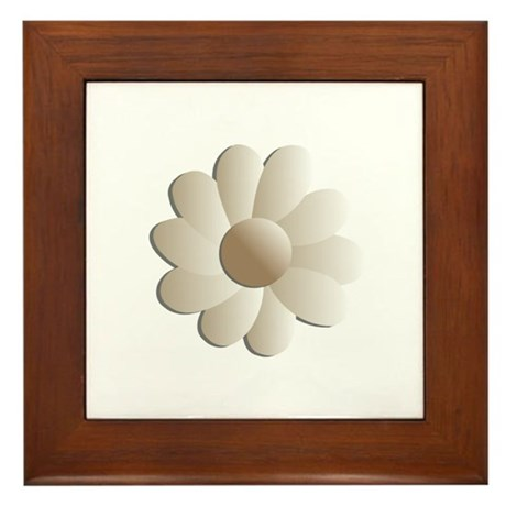 Pretty Daisy Framed Tile