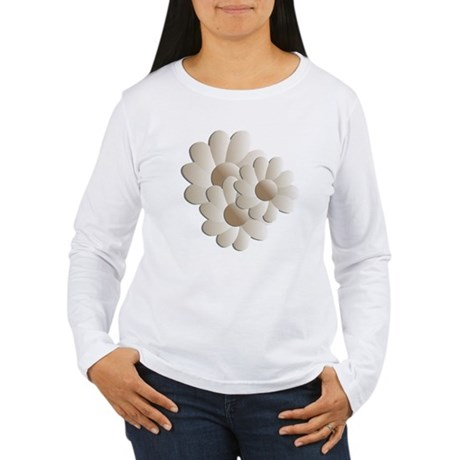 Daisy Trio - Sand Women's Long Sleeve T-Shirt