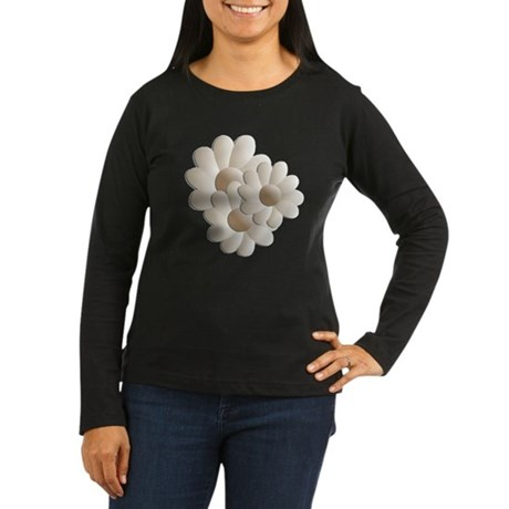 Daisy Trio - Sand Women's Long Sleeve Dark T-Shirt
