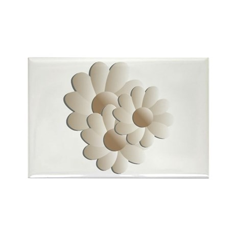 Daisy Trio - Sand Rectangle Magnet (10 pack)