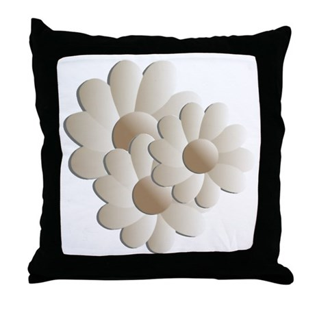 Daisy Trio - Sand Throw Pillow