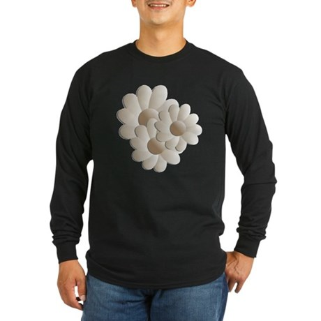 Daisy Trio - Sand Long Sleeve Dark T-Shirt