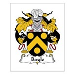 Bayle Family Crest Small Poster