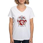 Bastida Family Crest Women's V-Neck T-Shirt