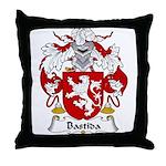 Bastida Family Crest Throw Pillow
