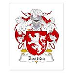 Bastida Family Crest Small Poster