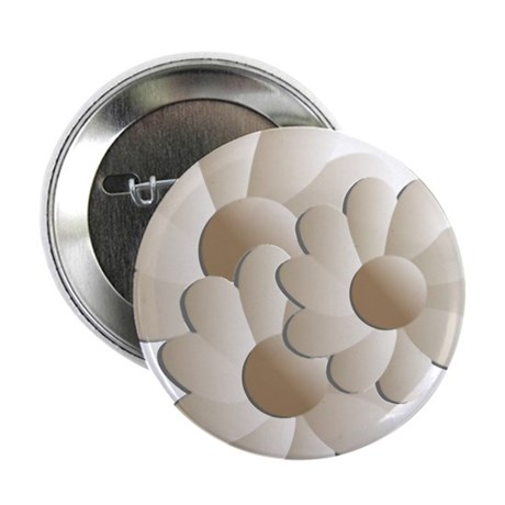"Daisy Trio - Sand 2.25"" Button (100 pack)"