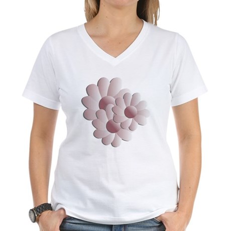 Pretty Daisy Trio - Pink Women's V-Neck T-Shirt