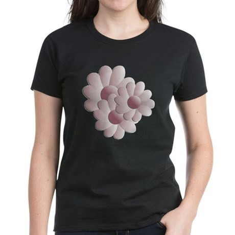Pretty Daisy Trio - Pink Women's Dark T-Shirt