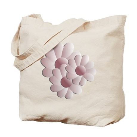 Pretty Daisy Trio - Pink Tote Bag