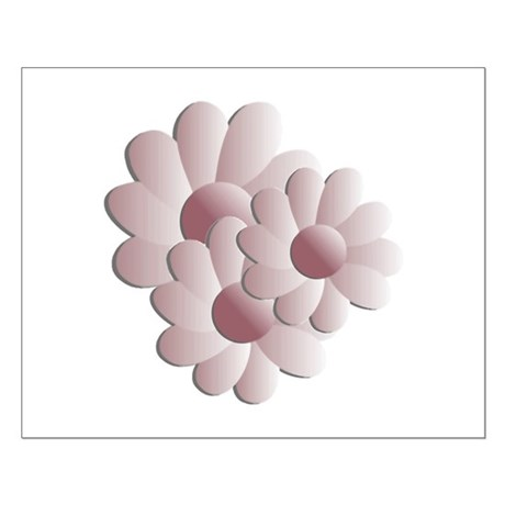 Pretty Daisy Trio - Pink Small Poster