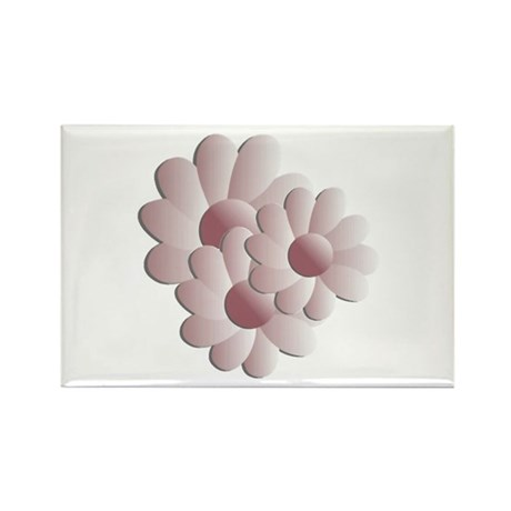 Pretty Daisy Trio - Pink Rectangle Magnet (10 pack