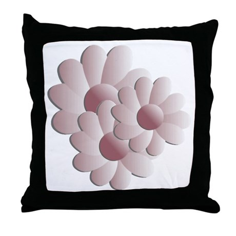 Pretty Daisy Trio - Pink Throw Pillow