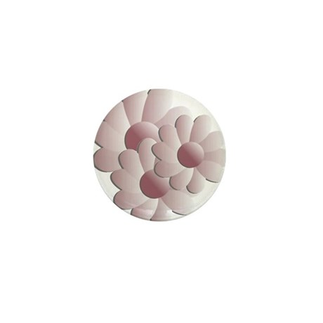 Pretty Daisy Trio - Pink Mini Button
