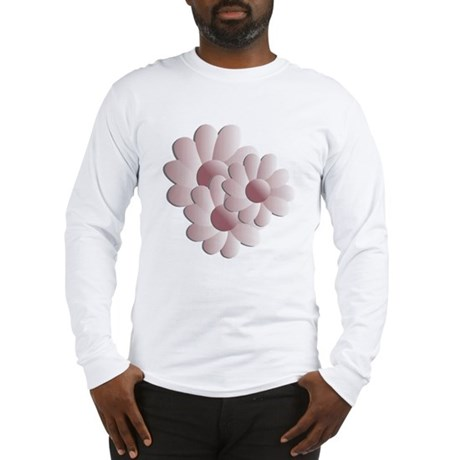 Pretty Daisy Trio - Pink Long Sleeve T-Shirt