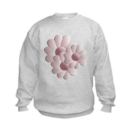 Pretty Daisy Trio - Pink Kids Sweatshirt