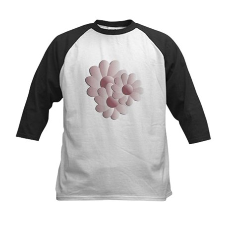 Pretty Daisy Trio - Pink Kids Baseball Jersey
