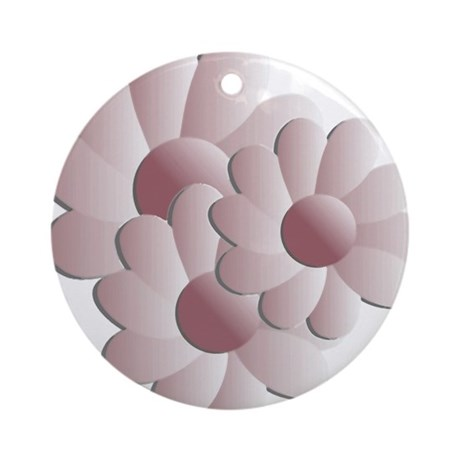 Pretty Daisy Trio - Pink Ornament (Round)
