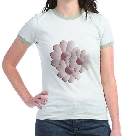 Pretty Daisy Trio - Pink Jr. Ringer T-Shirt
