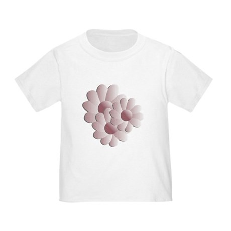 Pretty Daisy Trio - Pink Toddler T-Shirt