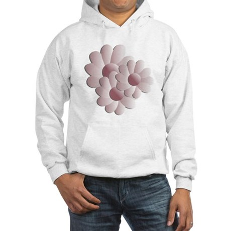 Pretty Daisy Trio - Pink Hooded Sweatshirt