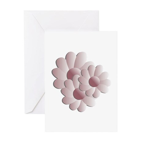 Pretty Daisy Trio - Pink Greeting Card