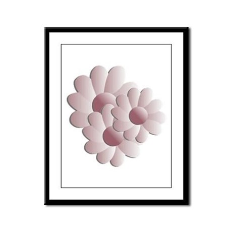 Pretty Daisy Trio - Pink Framed Panel Print