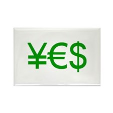 Yen Euro Dollar Rectangle Magnet (10 pack)
