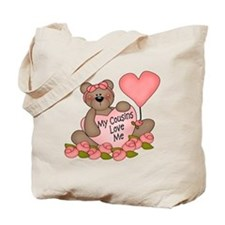 My Cousins Love Me CUTE Bear Tote Bag
