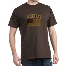 Desert US Infidel Patch T-Shirt