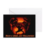 Halloween Bulldog Greeting Cards (Pk of 10)