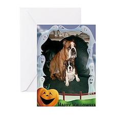 Halloween Bulldog cards(Pk of 10)