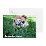 Bulldog speach Greeting Cards (Pk of 10)