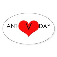 Anti-Valentine's Day Oval Decal