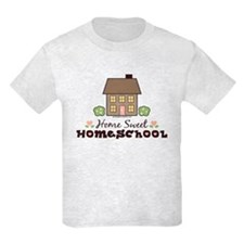 Home Sweet Homeschool Kids Grey T-Shirt