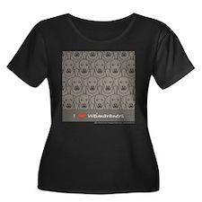 I Love Weims Plus Size Scoop Neck Dark T-Shirt