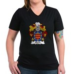 Barri Family Crest Women's V-Neck Dark T-Shirt