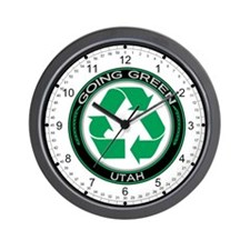 Going Green Utah (Recycle) Wall Clock