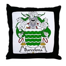 Barcelona Family Crest Throw Pillow