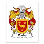 Barbo Family Crest Small Poster