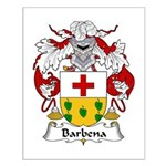 Barbena Family Crest Small Poster