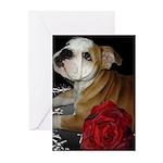 Bulldog Love Greeting Cards (Pk of 10)