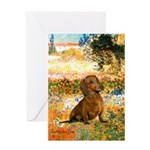Garden (VG) & Dachshund Greeting Card