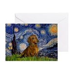 Starry / Dachshund Greeting Card