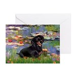 Lilies (2) & Dachshund Greeting Cards (Pk of 20)