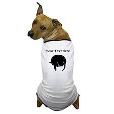 Custom Manatee Silhouette Dog T-Shirt